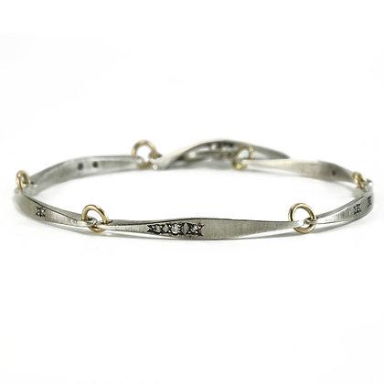 Forged Linked Bar Bracelet