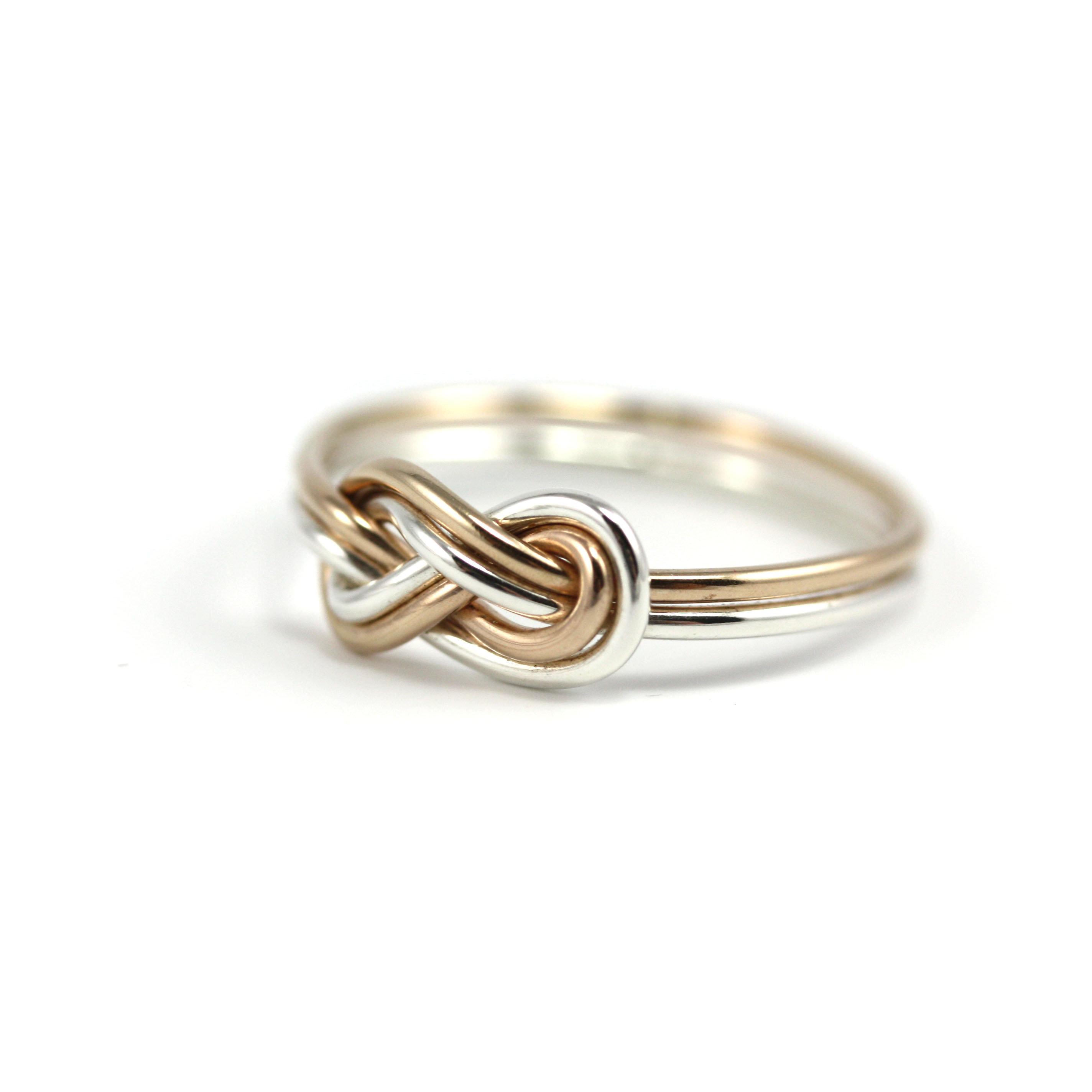 Mixed Double Infinity Knot Ring Jenleddystudios