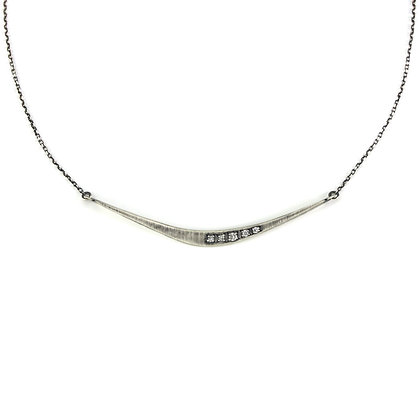 Forged Diamond Bar Necklace