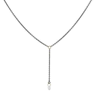 Diamond Briolette Lariat Necklace