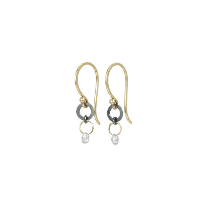 Diamond Briolette Drop Earrings