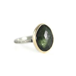Green Tourmaline Statement Ring