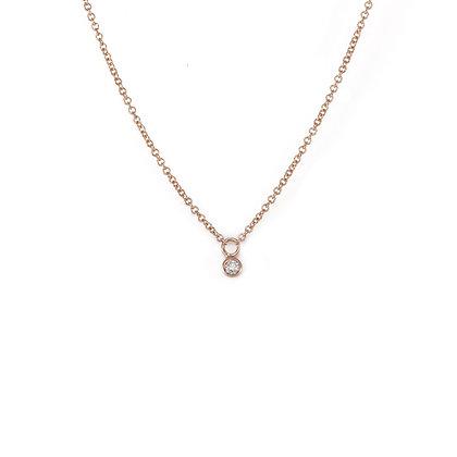 Petite Diamond Drop Necklace