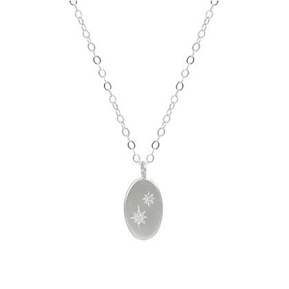 Oval North Star Duo Necklace