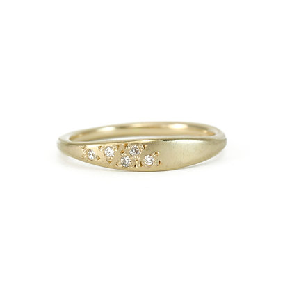 Tapered Cluster Five Diamond Ring