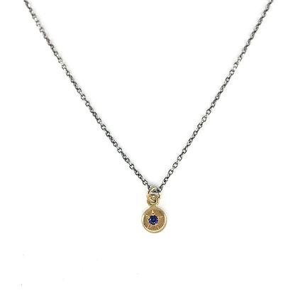 Petite Star Set Gemstone Necklace