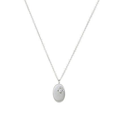Oval Off-Set North Star Diamond Necklace