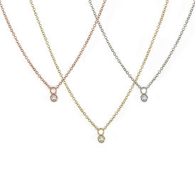 Delicate diamond drop necklaces