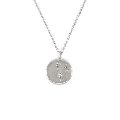 Triple Diamond Celestial Necklace