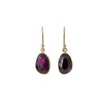 Purple Spinel Dangle Earrings