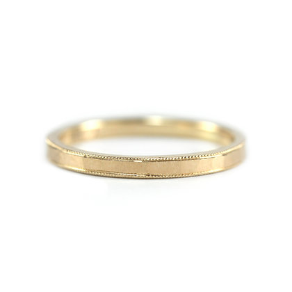 Matte Milgrained Hammered Band