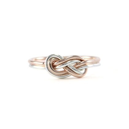 Mixed Double Infinity Knot Ring
