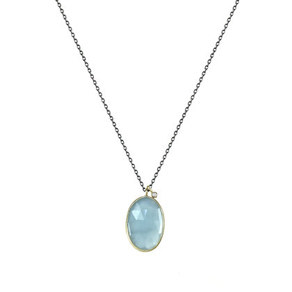 Aquamarine Double Drop Necklace