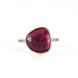 Pink Tourmaline Statement Ring