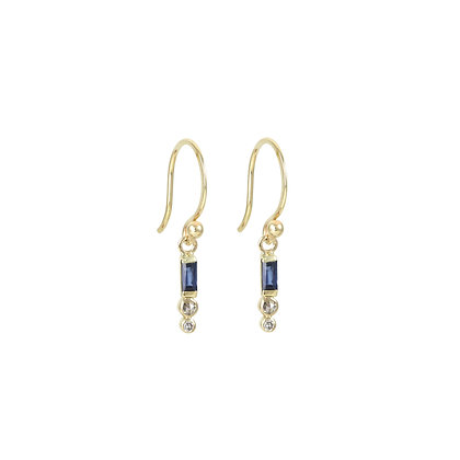 Baguette Stacked Drop Earrings