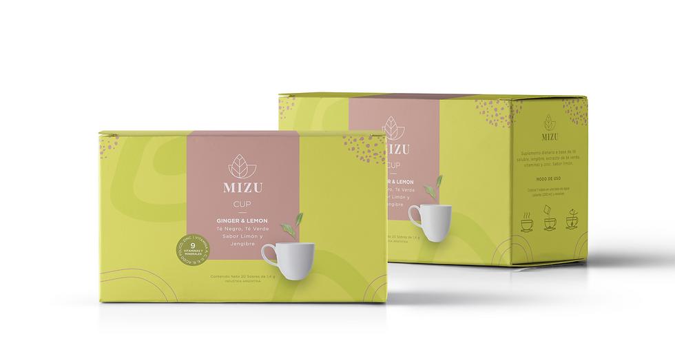 Combo té ginger & lemon - 2 cajas de 20 sobres