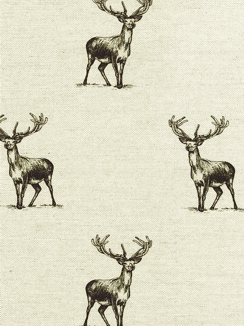 Black and Natural Stag Print
