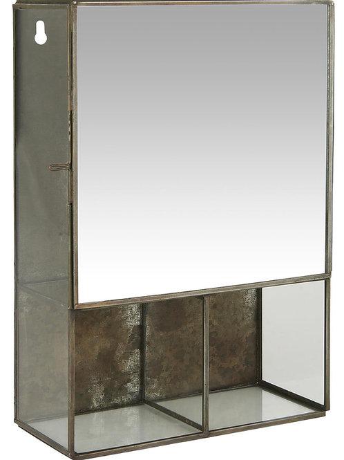 Mirrored bathroom cupboard/shelf