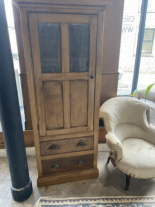 Old pine tall cupboard