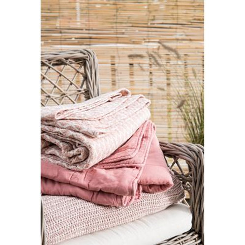 Light Pink Knitted Throw