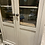 Thumbnail: French glass front cream painted kitchen cupboard