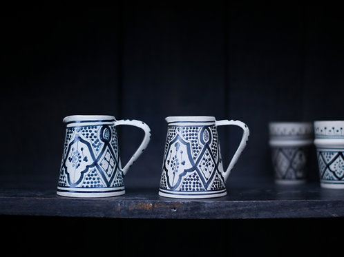 Moroccan Pattern Small Jug Blue