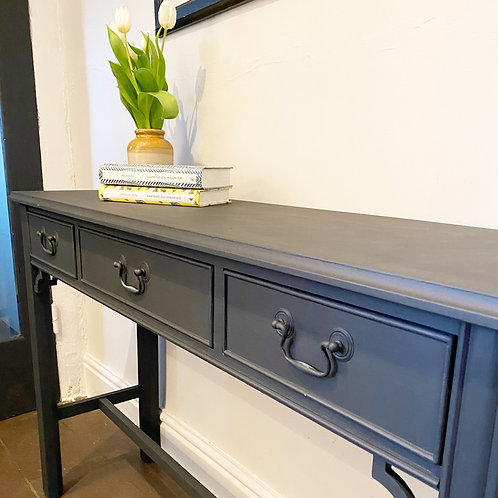 Painted dark blue vintage sideboard