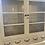 Thumbnail: Large glass front vintage kitchen dresser, cream