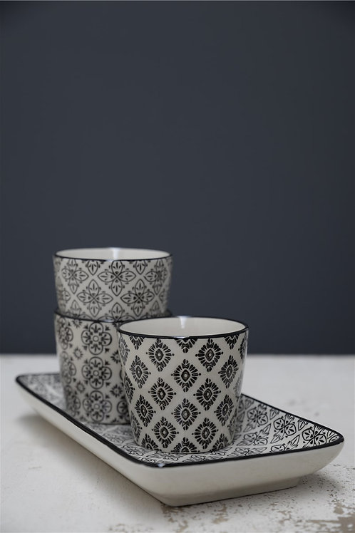 Black and white patterned Cups/Plant pots