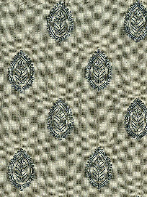 Leaf Pattern Charcoal 100% Cotton