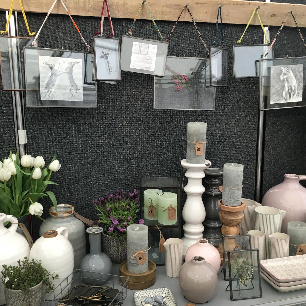 Ceramics and candle sticks