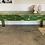 Thumbnail: Large pine chippy paint green 3 drawer vintage table