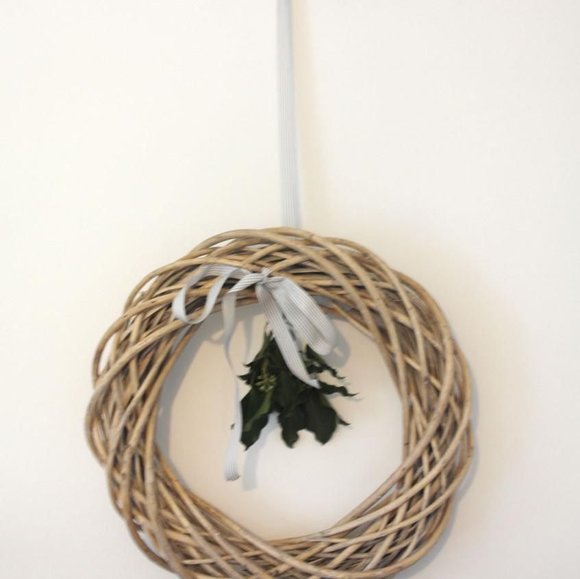 Rattan wreath