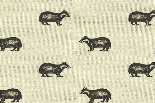 Black and Natural Badger print