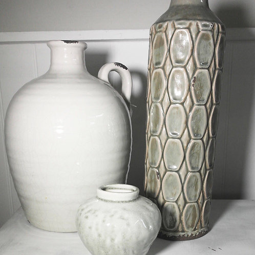 Small squat glazed vase