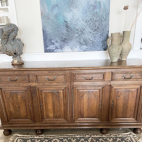 Antique French 7ft solid wood sideboard