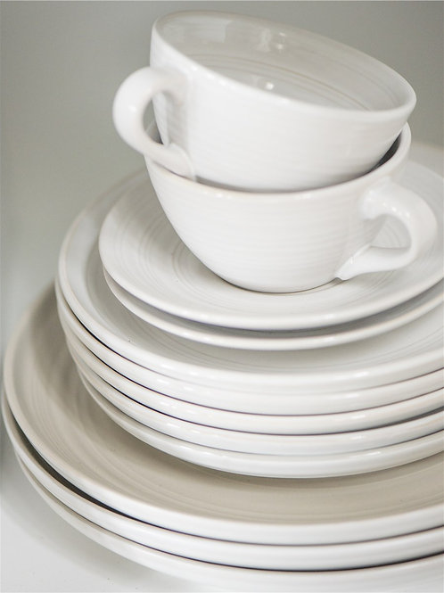 White and Grey Simplicity Plate