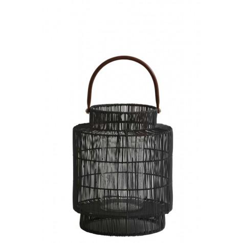 Black wicker lantern