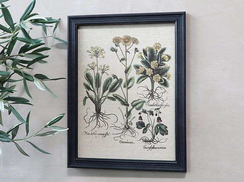 Flower picture canvas in black frame
