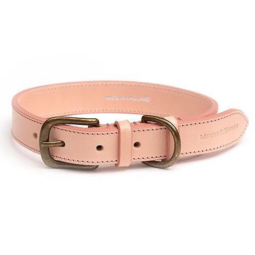 Rose leather dog collar