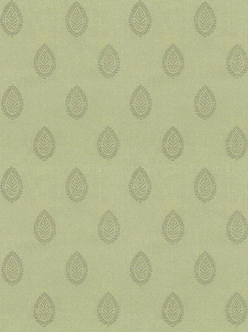 Leaf Pattern Sage 100% Cotton