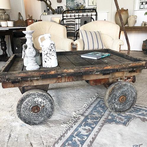 Vintage pallet truck table