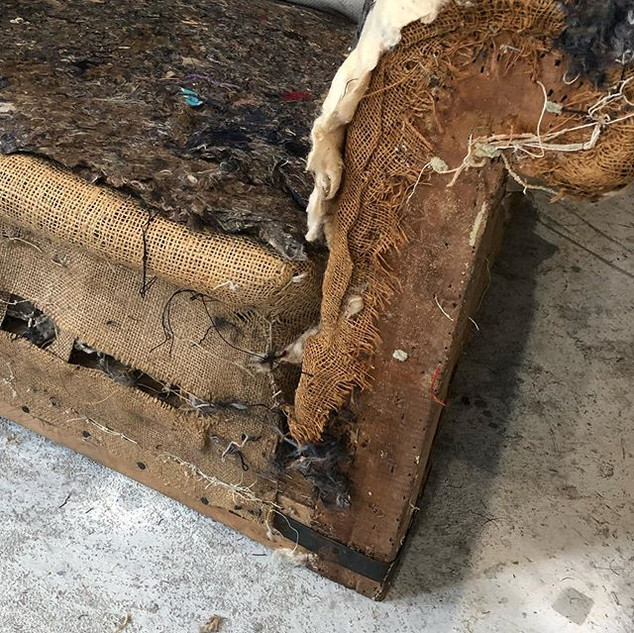 Stripping back a chair for re-upholsteri