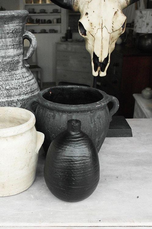 Small Matt black chubby vase