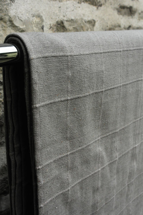 Cotton Grey Check Bedspread
