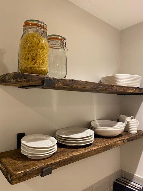 Rustic Scaffold Board Shelves