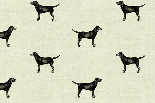 Black and Natural Labrador Print