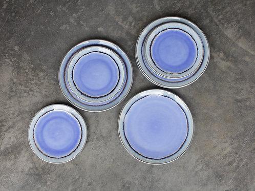 Colourful glazed ceramic side plate