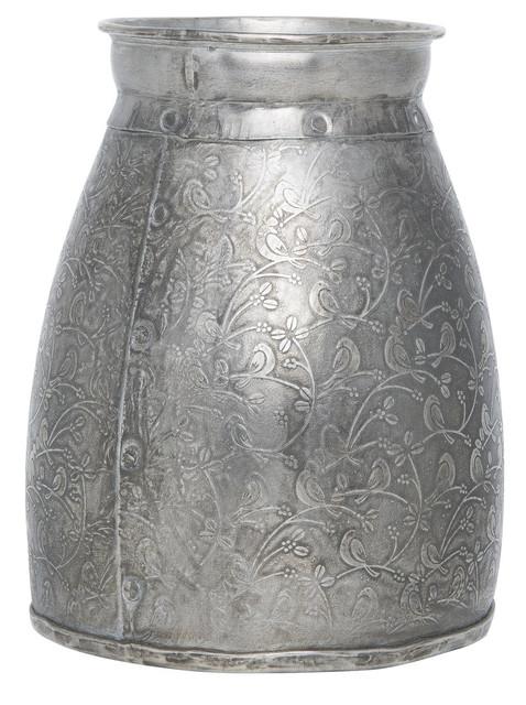 Etched Metal Vase