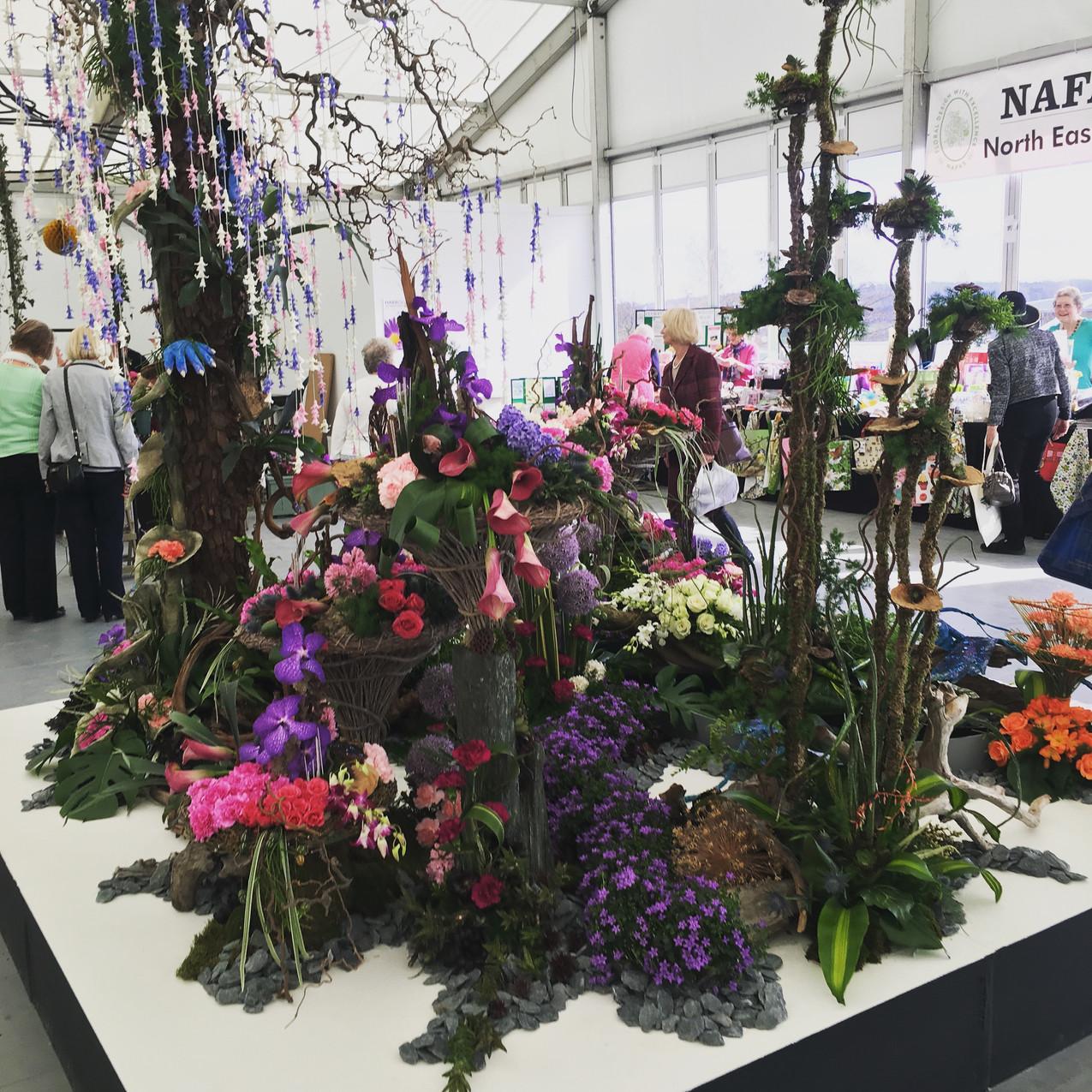 Floral display in Floral Art Marquee